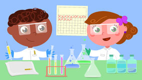 Two young researchers vector Stock Photography