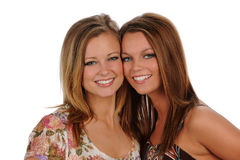 Two Young Sisters Royalty Free Stock Images