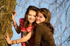 Two young sisters Royalty Free Stock Photo