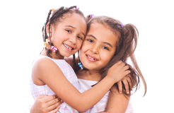 Two young sisters smiling Royalty Free Stock Photography
