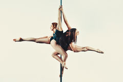 Pole dance team Royalty Free Stock Image