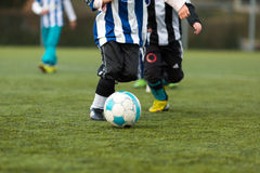 Two young soccer players Royalty Free Stock Photos