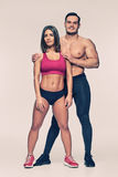 Two young sporty bodybuilders Stock Images