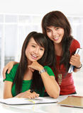 Two young student Royalty Free Stock Photography
