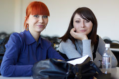 Two young students Stock Images