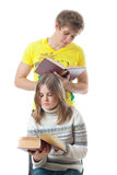 The two young students Royalty Free Stock Photo
