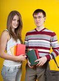Two young students Royalty Free Stock Photo
