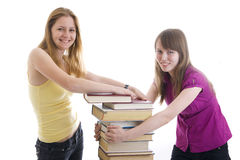 The two young students Royalty Free Stock Images