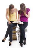 The two young students Stock Photos