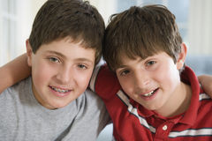 Two young teenage boys Royalty Free Stock Images