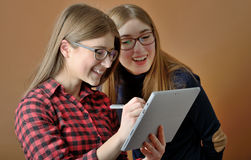Two young teenage girls Royalty Free Stock Image