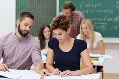 Two young university students Stock Image