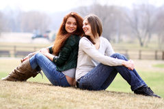 Two young woman Royalty Free Stock Photos