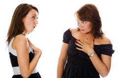 Two young woman Royalty Free Stock Photography