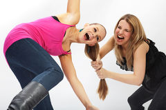 Two young woman - conflict Stock Photos