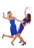 Two young woman fight Royalty Free Stock Photos