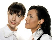 Two young woman Royalty Free Stock Images