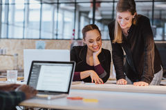 Two young woman working on a new creative design Stock Photo