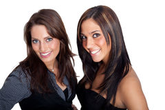 Two young Women. Wearing a business look Stock Image