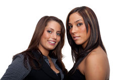 Two young Women. Wearing a business look Stock Photo