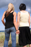 Two young women Stock Photo