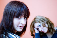 Two young women.   Stock Images