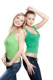 Two young women Stock Images