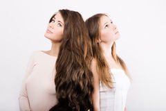 Two young women. Dream of Royalty Free Stock Images