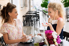 Two young women Stock Photos