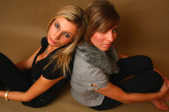 Two young women Stock Photography