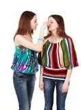 Two young women arguing Royalty Free Stock Photos