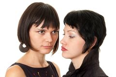 Two young women close up Royalty Free Stock Photos