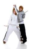 Two young women dancing Stock Photo
