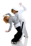 Two young women dancing Royalty Free Stock Image