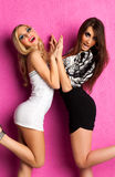 Two young women fashion Stock Images