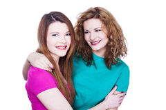 Two young women friends Stock Photos
