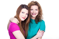 Two young women friends Stock Image