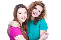 Two young women friends Royalty Free Stock Photo