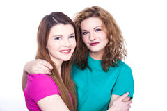 Two young women friends Royalty Free Stock Image