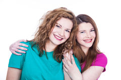 Two young women friends Royalty Free Stock Images