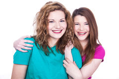 Two young women friends Stock Photo