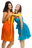 Two young women have fun Stock Images