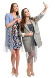 Two young women making selfie Royalty Free Stock Photo