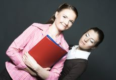Two young women Royalty Free Stock Photography