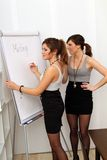Two young women during a meeting Royalty Free Stock Photo
