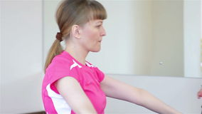 Two young women on Pilates stock video footage