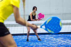 Free Two Young Women Playing Paddle Tennis. Royalty Free Stock Image - 82821716