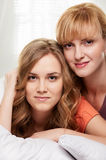Two young Women portrait Royalty Free Stock Photography