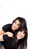 Two young women smiling Royalty Free Stock Photo