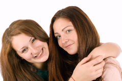 Two young and wonderful models. stock images